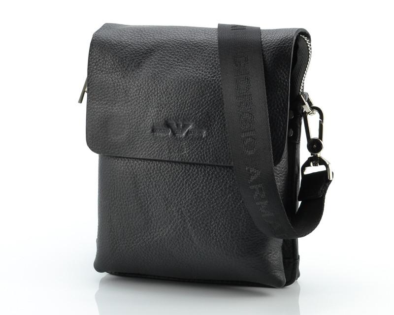 Тонкая кожаная сумка Giorgio Armani 9923-2