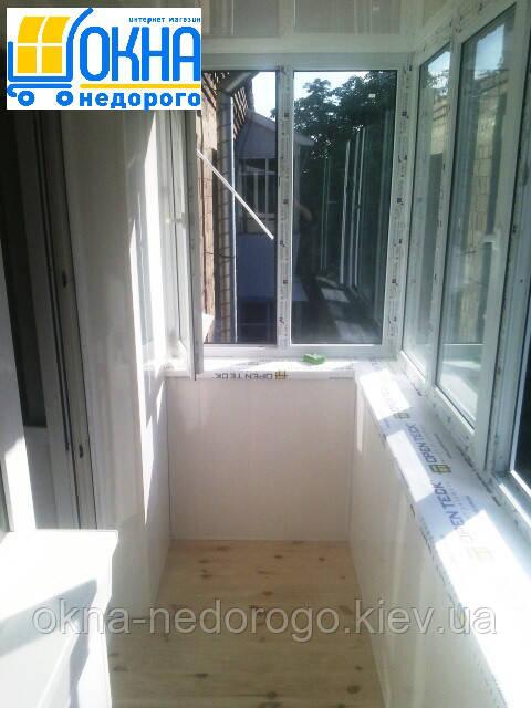 Внутренняя обшивка балконов недорого