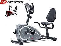 Магнитный, горизонтальный велотренажер HS-67R Axum silver  до 150 кг. Гарантия 24 мес.