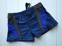 Плавки-шорты для мальчика с контрастными вставкамир. 38-46