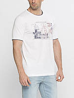 Белая мужская футболка LC Waikiki / ЛС Вайкики с надписью Marine route guide