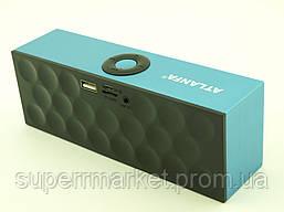 Atlanfa AT-7727 BT 6W, Bluetooth колонка с FM MP3, голубая с черным, фото 2