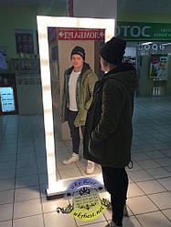 Зеркало с подсветкой 190 * 90 см - массив дерева