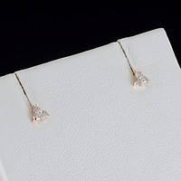 Миниатюрные серьги с кристаллами Swarovski, покрытые слоями золота 0795