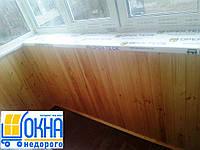 Внутренняя обшивка балконов деревянной вагонкой