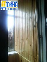 Внутренняя обшивка балконов деревянной вагонкой, фото 2