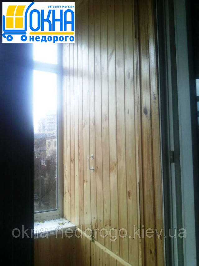 Внутренняя обшивка балконов деревянной вагонкой Киев