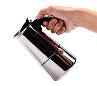Гейзерная кофеварка из нержавеющей стали 200 мл, 4 порции