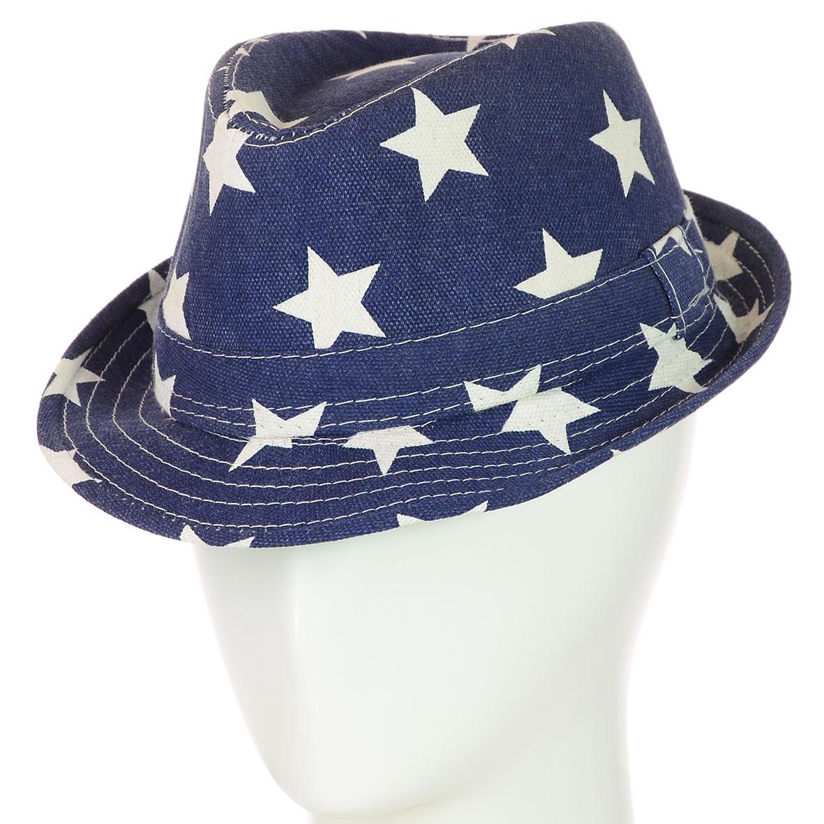 Детская шляпа синяя в звёздах