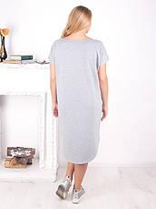 Спортивне плаття великих розмірів з коротким рукавом батал, фото 2
