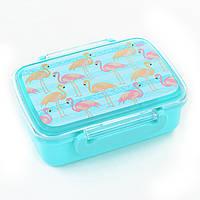 """Контейнер для еды YES """"Flamingo"""", с разделителем, 706418"""