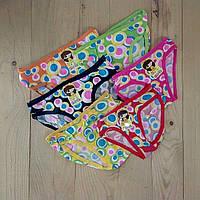 Детские трусики на девочку Girls с принтом цветное ассорти 12 шт упаковка размеры  L-M-S  ТДП-289