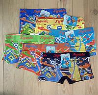 Трусы боксёры для мальчика HIGUIDA с рисунком  12 шт упаковка ТДП-2811