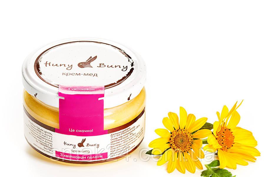 Крем-мед  с Цветочной пыльцой Huny Buny 250 г