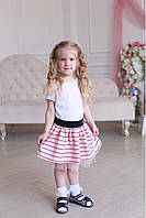 Юбка школьная с бантиком в расцветке, фото 1