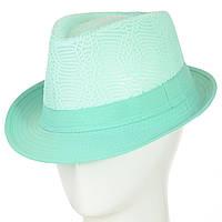 Женская шляпа федора под мужской стиль мятного цвета