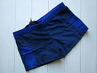 Темно-синие плавки-шорты с яркими синими вставкамир. 38-46