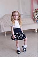 Очаровательна юбка для девочек в расцветке