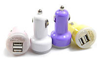 Автозарядка mini на 2 USB, автомобильная зарядка для телефона