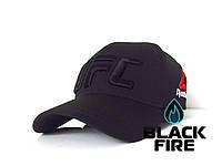 Кепка Reebok UFC бейсболка Рибок ЮФС черная с черным логотипом