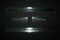 Вставки на пороги Nissan Qashqai VIP
