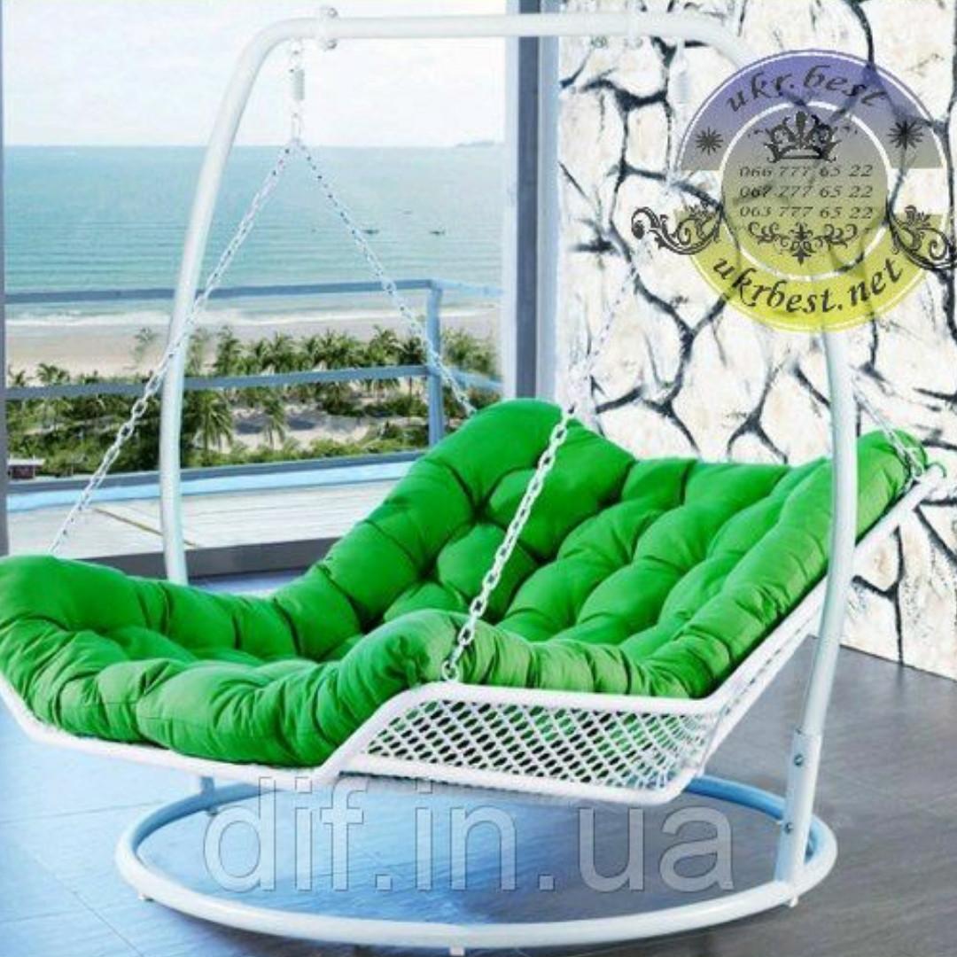 Подвесная кровать-кресло двухместная - садовые качели