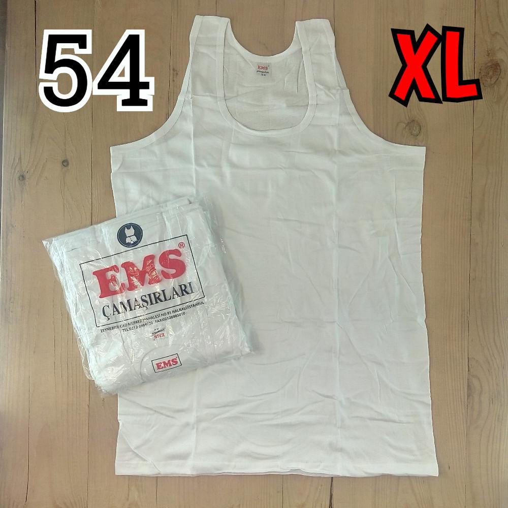Майка мужская хлопок 100% EMS Турция размер XL-54 белая  однотонная без надписей ММ-2526