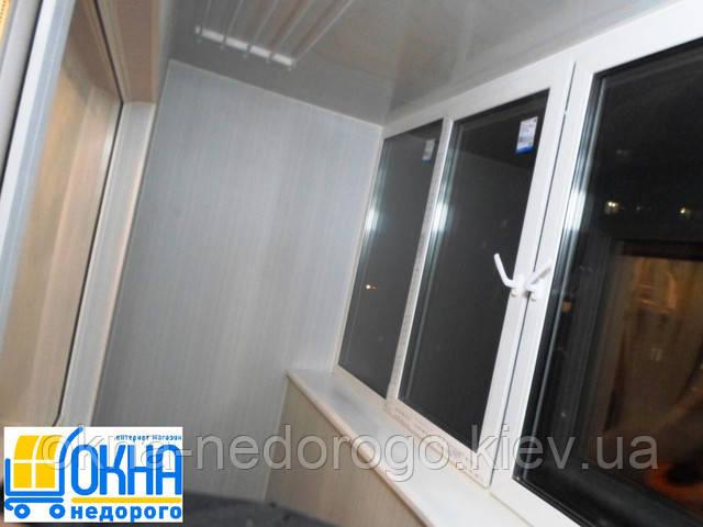 Обшивка балконов пластиковой вагонкой недорого и качественно