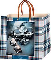 Пакеты для подарков мужские размер 24 х 24 см (12 шт./уп.)