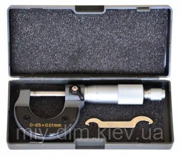 Мікрометр 0-25мм, 0,01-0,25мм S-LINE (15-680)