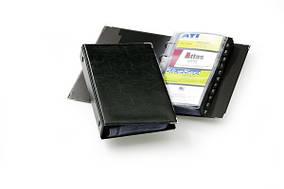 Визитница Durable на кольцах VISIFIX для 200 визиток черная