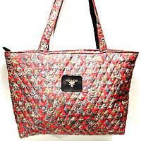 Стеганные сумки оптом из плотной ткани,водонепроницаемая (узор)30*46