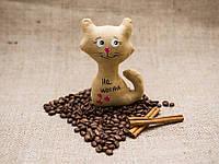 Кофейная игрушка Vikamade Котик на магните с хвостиком