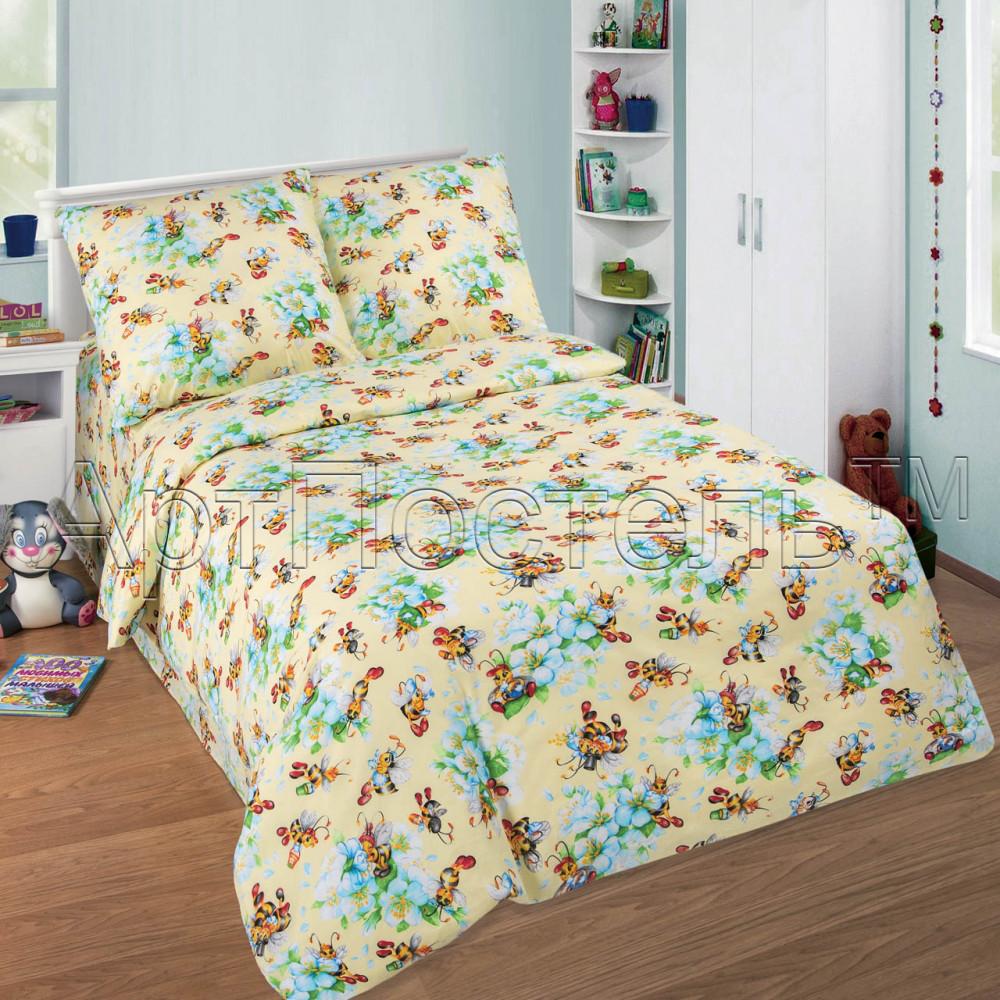 Постельное белье Пчелки поплин ТМ Комфорт текстиль (подростковый)