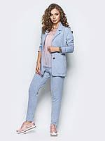 Стильний жіночий костюм в діловому стилі  двунитка розмір 44,46,48,50,52