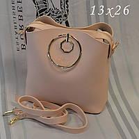 Женская брендовая сумка Chloe Хлое эко-кожа розовая