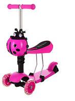 Самокат  iTrike с сидением и корзинкой Розовый (JR 3-016-B)