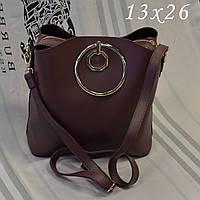 Женская брендовая сумка Chloe Хлое эко-кожа бордовая