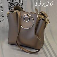Женская брендовая сумка Chloe Хлое эко-кожа золотая