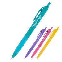 Ручка шариковая AXENT Bright синяя корпус разных цветов