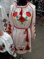 Шикарное женское вышитое платье