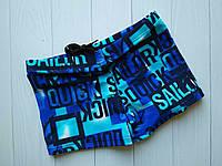 Плавки-шорты для мальчика мятно-синиес буквами надписями