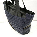 Стеганные сумки оптом из плотной ткани,водонепроницаемая (серый)30*36, фото 2
