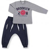 "Набор детской одежды Breeze кофта и брюки серый меланж "" Brooklyn"" (7882-80B-gray)"
