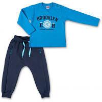 """Набор детской одежды Breeze кофта и брюки голубой """" Brooklyn"""" (7882-86B-blue)"""