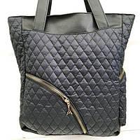 Стеганные сумки оптом из плотной ткани,водонепроницаемая (черный)30*36, фото 1
