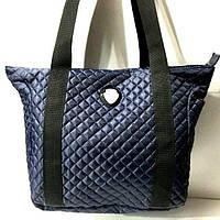 Стеганные сумки оптом из плотной ткани,водонепроницаемая (синий)33*33