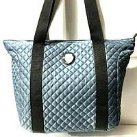 Стеганные сумки оптом из плотной ткани,водонепроницаемая (серый)33*33