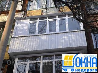 Обшивка балконов профнастилом снаружи