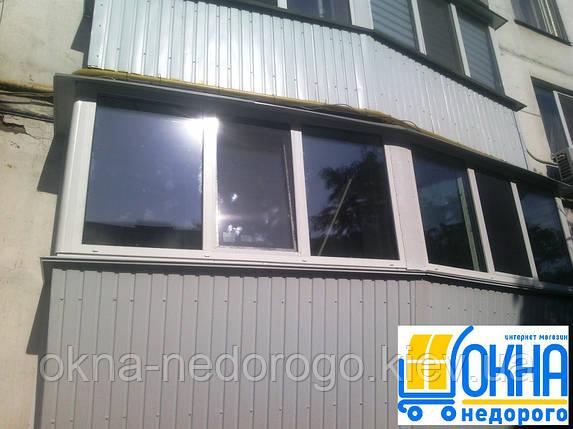 Обшивка балконов профнастилом снаружи, фото 2